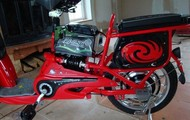 The electric bike, with warranty